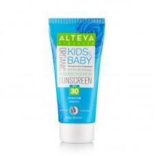 Био слънцезащитен крем за деца и бебета SPF30. ALTEYA