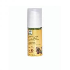 Био слънцезащитен крем за лице и тяло, SPF 30 , Bioselect, 100 ml