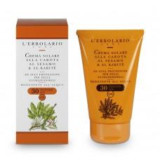 Слънцезащитен крем за лице и тяло с морков, сусам и карите SPF 30