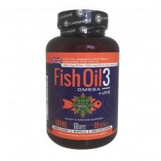 Рибено масло + Витамин Е, Fish Oil, 60 капсули